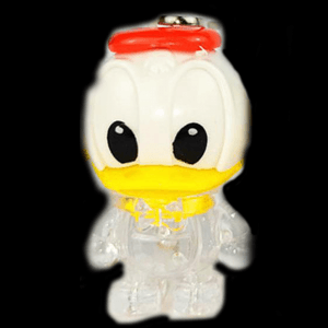 LED Light-Up Donald Duck Keychain-Mix color