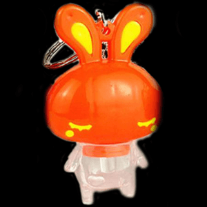 LED Light-Up Sleepy Bunny Keychain-Mix color