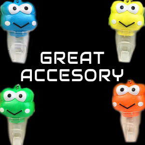 LED Light-Up Frog Keychain-Mix color