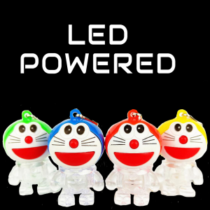 LED Light-Up Doraemon Keychain-Mix color
