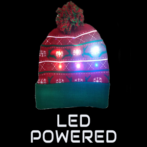 LED Light-Up Knitting Christmas Snowflake & Fawn Hat