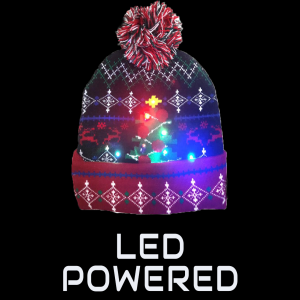 LED Light-Up Knitting Christmas Jacquard plaid Tree Hat