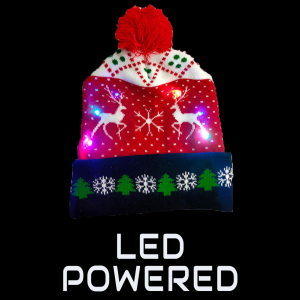 LED Light-Up Knitting Christmas Winter Sunshine Fawn Hat