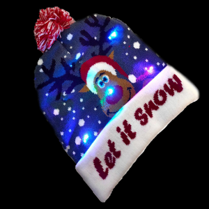 LED Light-Up Knitting Christmas olaf Let It Snow Hat