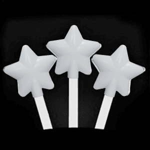 12 Inch Glowing Magic Wands - White