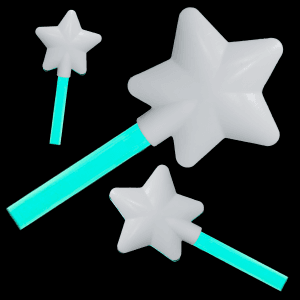 12 Inch Glowing Magic Wands - Aqua
