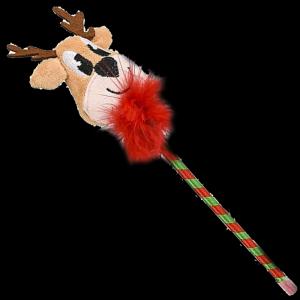 "10"" Plush Holiday Reindeer Pen"