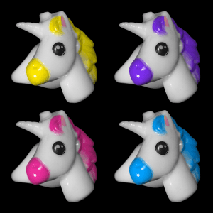 "1"" Light-Up Unicorn Rings"