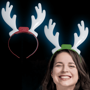 "10"" Light-Up Holiday Reindeer Antlers"