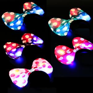 Light-Up Polka Dot Bow Headbands