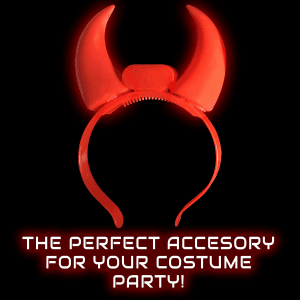 LED Flashing Devil Horns Headband