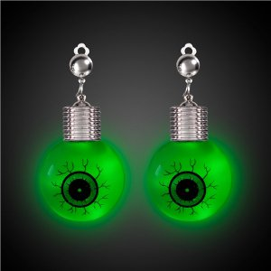 LED Jumbo Eyeball Clip-On Earrings (Per pair)