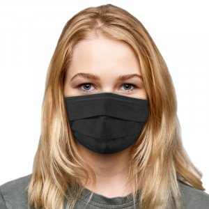 3-PLY Black Protective Face Mask