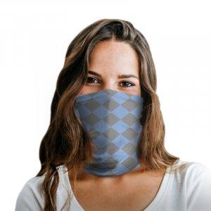 Blue Plaid Polyester Gaiter