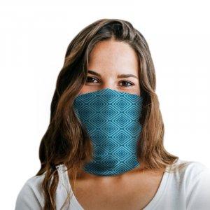 Blue Squares Polyester Gaiter