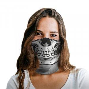 White Skull Polyester Gaiter
