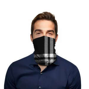 Black Plaid Polyester Gaiter