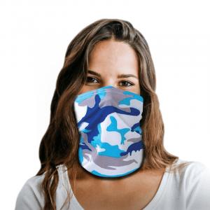 Blue Theme Camo Polyester Gaiter