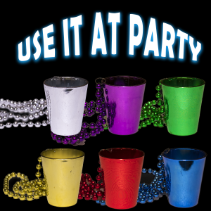 "33"" Shot Glass Mardi Gras Beads"