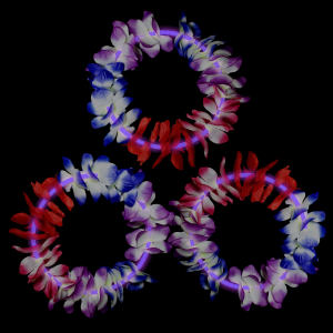22 Inch Glow Leis - Purple
