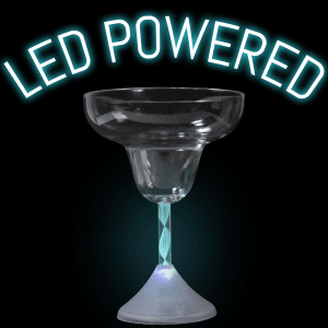 LED Flashing Margarita Glass - 9 oz