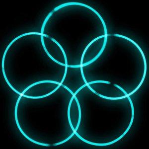 20 Inch Glow Stick Necklaces - Aqua