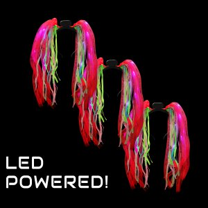 LED Light-Up Tentacle Headbopper- Red