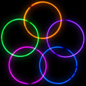 22 Inch Glowstick Necklaces - 8 Color Mix