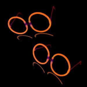 Glow Eyeglasses - Round - Orange