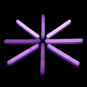 2 Inch Mini Glow Sticks - Purple