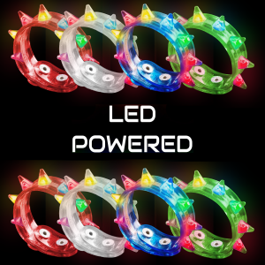 LED Flashing Spike Bracelets