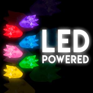 LED Flashing Spike Rings