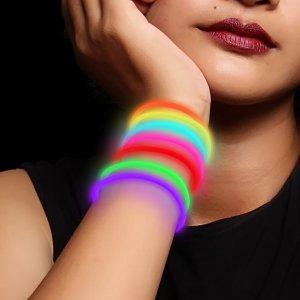 10 Inch Glow Stick Bracelets - 5 Color Mix