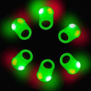 LED Flashing Jelly Ring- Green