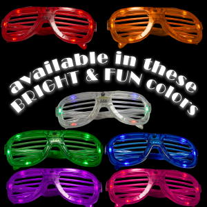 LED Flashing 80s Sunglasses