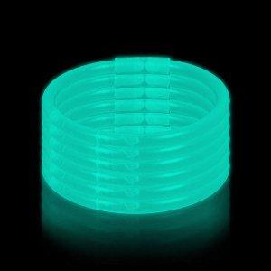 10 Inch Glow Stick Bracelets - Aqua