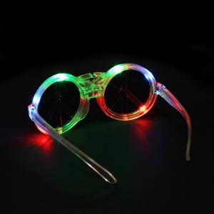 LED Light Up Peace Sign Sunglasses - Multicolor