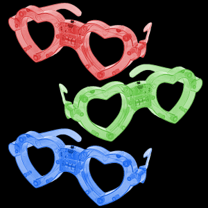 LED Light Up Heart Eyeglasses- Assortment