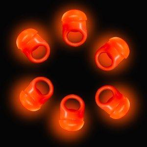 LED Flashing Jelly Ring- Orange
