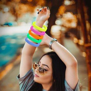 8'' Twister Glowstick Bracelets - Solid Color Mix