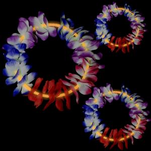 22 Inch Glow Leis - Orange