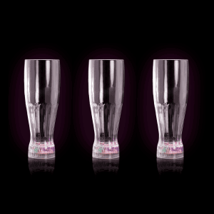 LED Flashing Pilsner Glass with Freezable Base - 12oz