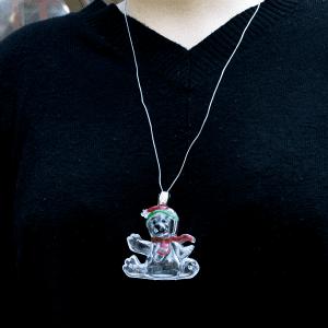 Light-Up Holiday Necklace- Polar Bear