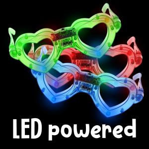 LED Light Up Heart Eyeglasses- Assortment