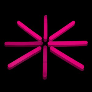2 Inch Mini Glow Sticks - Pink