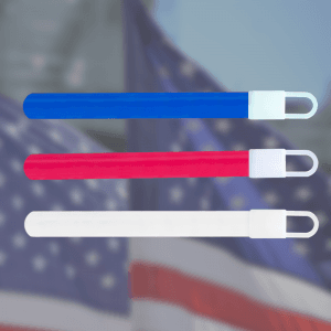 "4"" Glow Sticks- Red, White & Blue (72 Pack)"