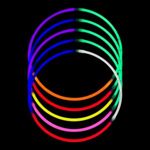 24'' Tri-Color Glowstick Necklaces - Mix Colors