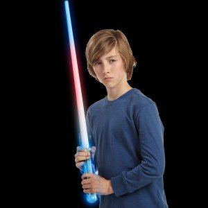 LED Light-Up Red White and Blue Saber Sword