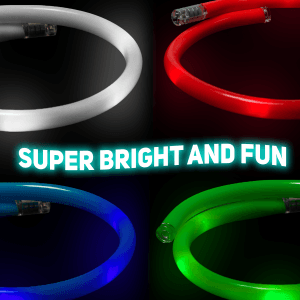 "20"" Light-Up Flashing Tube Necklace"