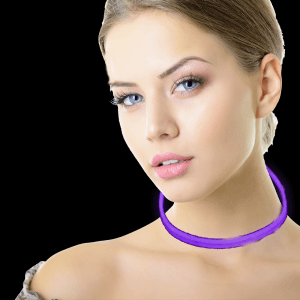 22'' Twister Glowstick Necklaces - Purple